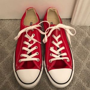 Brand New Red Converse low top chuck Taylor's